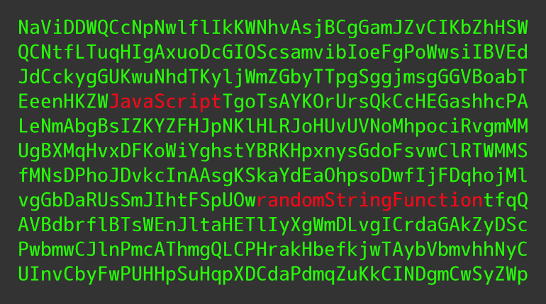 JavaScript randomStringFunction